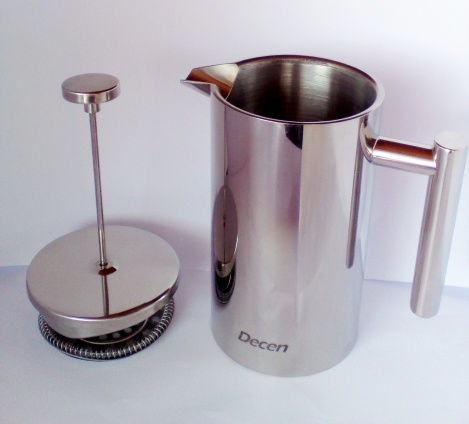 Decen Kaffeebereiter - Doppelwandiger Edelstahl Kaffeekanne - French Press Coffee Maker - 1L_3