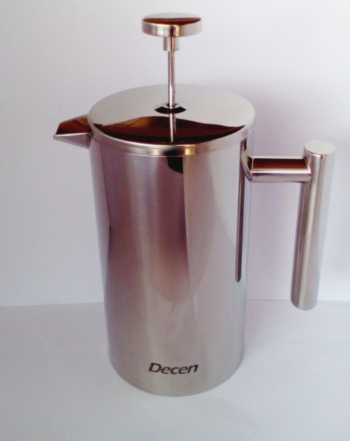 Decen Kaffeebereiter - Doppelwandiger Edelstahl Kaffeekanne - French Press Coffee Maker - 1L_4