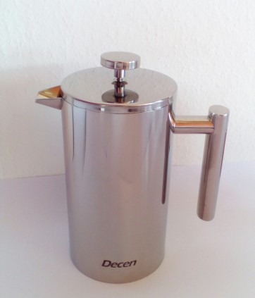 Decen Kaffeebereiter - Doppelwandiger Edelstahl Kaffeekanne - French Press Coffee Maker - 1L_5